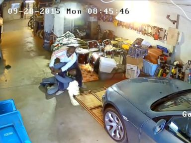 PHOTO: Bill Oxidean wrestled a gun away from an armed man who entered his garage.