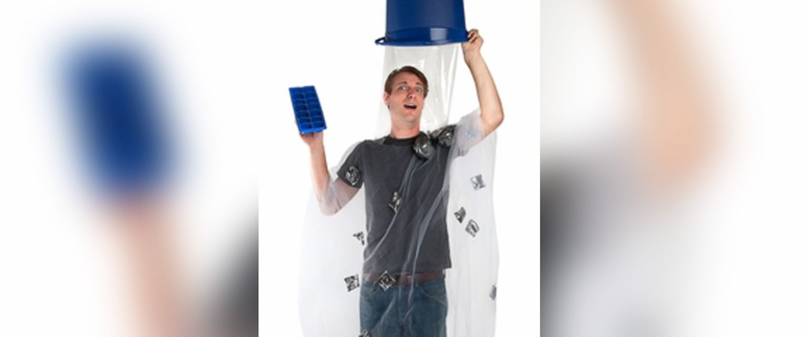 PHOTO: The Ice Bucket Challenge costume is pictured.
