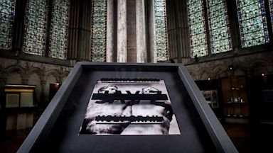 PHOTO: Art from Jay-Zs new album, Magna Carta... Holy Grail, was on display at the Salisbury Cathedral in the United Kingdom.