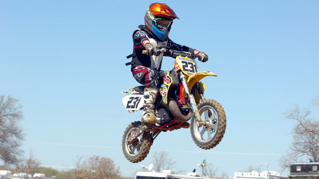 PHOTO: Jay Cramer, now 8, began competing in motocross races at the age of 4.