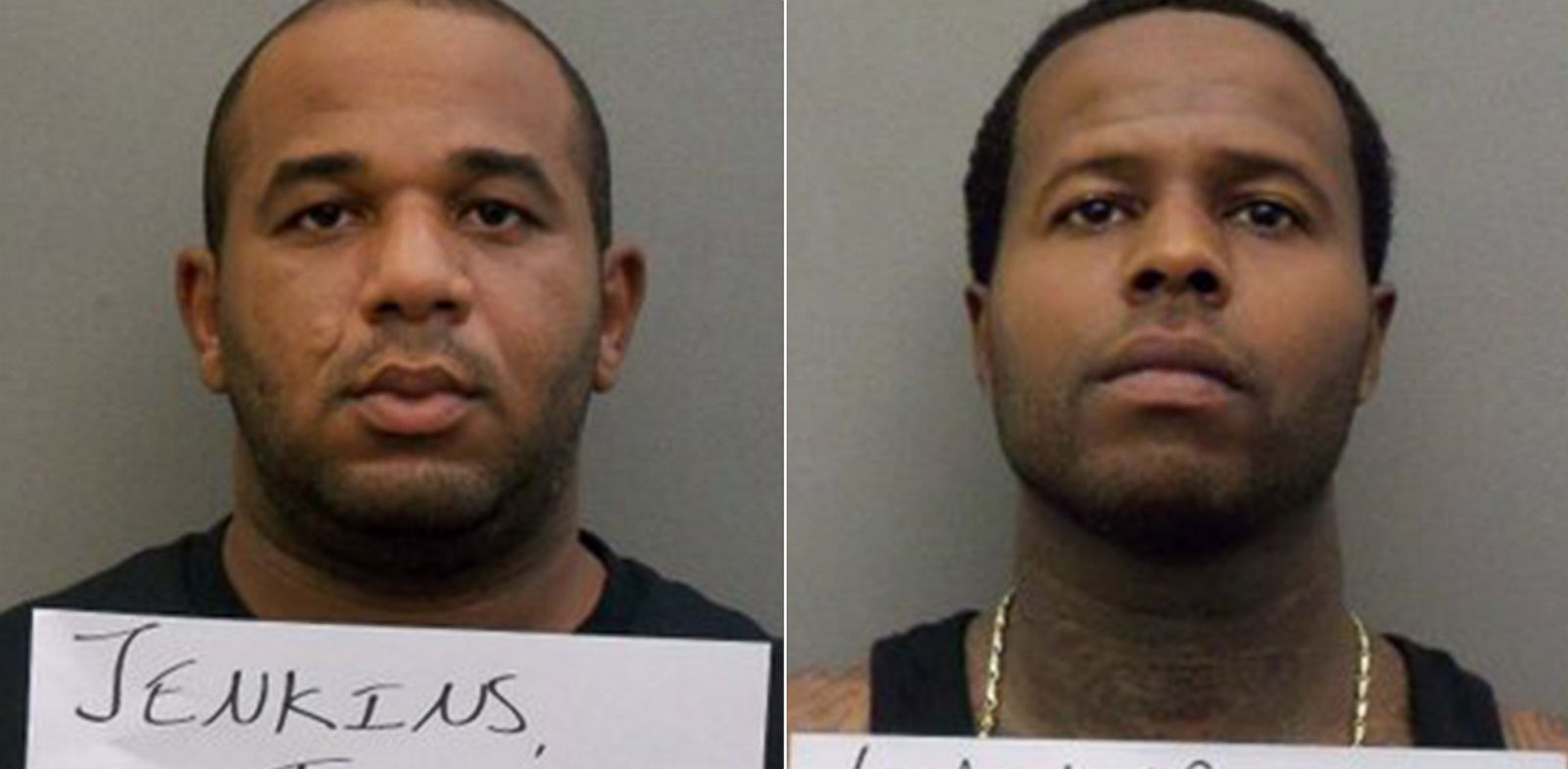 PHOTO: Joseph Jenkins, left, as seen at the Orange County Jail on Sept. 30, 2013 and Charles Walker, right, as seen at Orange County Jail on Oct. 11, 2013. Both men escaped from prison and are currently being pursued in a national manhunt.
