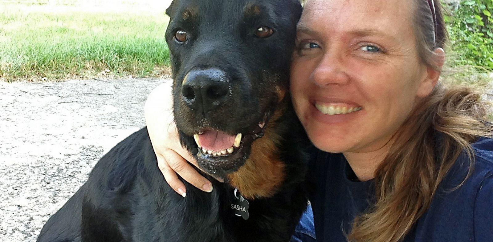 PHOTO: Jennifer Koczan and her Rottweiler Sasha