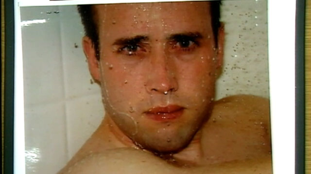 PHOTO: A series of photos taken of a naked Travis Alexander in the shower, the last photos taken of the 30-year-old when he was alive, were shown to the jury in Arias' murder trial, Jan. 14, 2013.