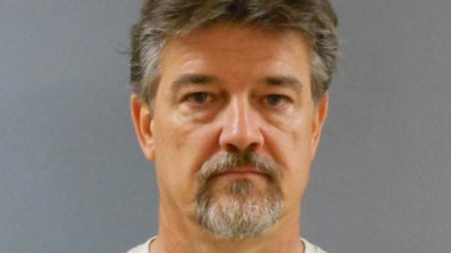 PHOTO: Booking photo of John Franklin Howard, arrested in connection with the August 18, 2012 shooting of his wife, Nancy Howard, at their residence in Carrollton, TX, Aug. 26, 2012.