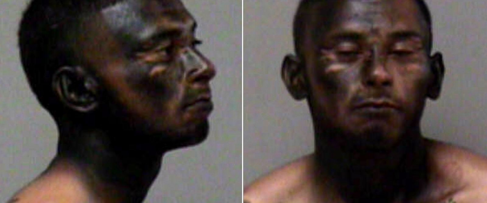 PHOTO: Jose Espinoza, 23, seen here in a police booking photo from March 15, 2015, allegedly spray painted his face black to try and evade police.