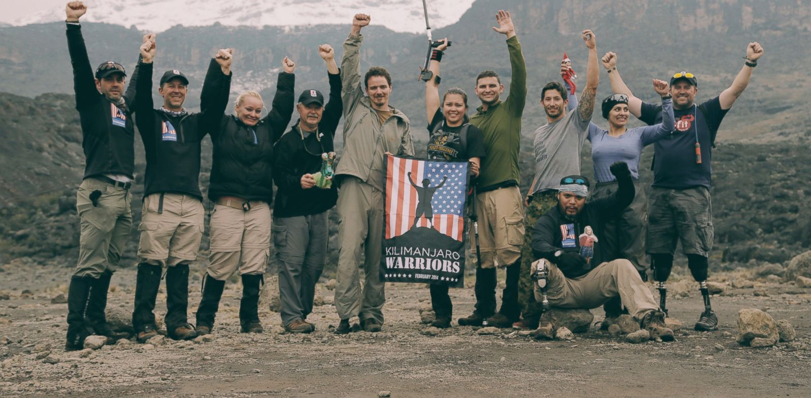 PHOTO: The Mount Kilimanjaro Warriors at Halfway Point to Summit
