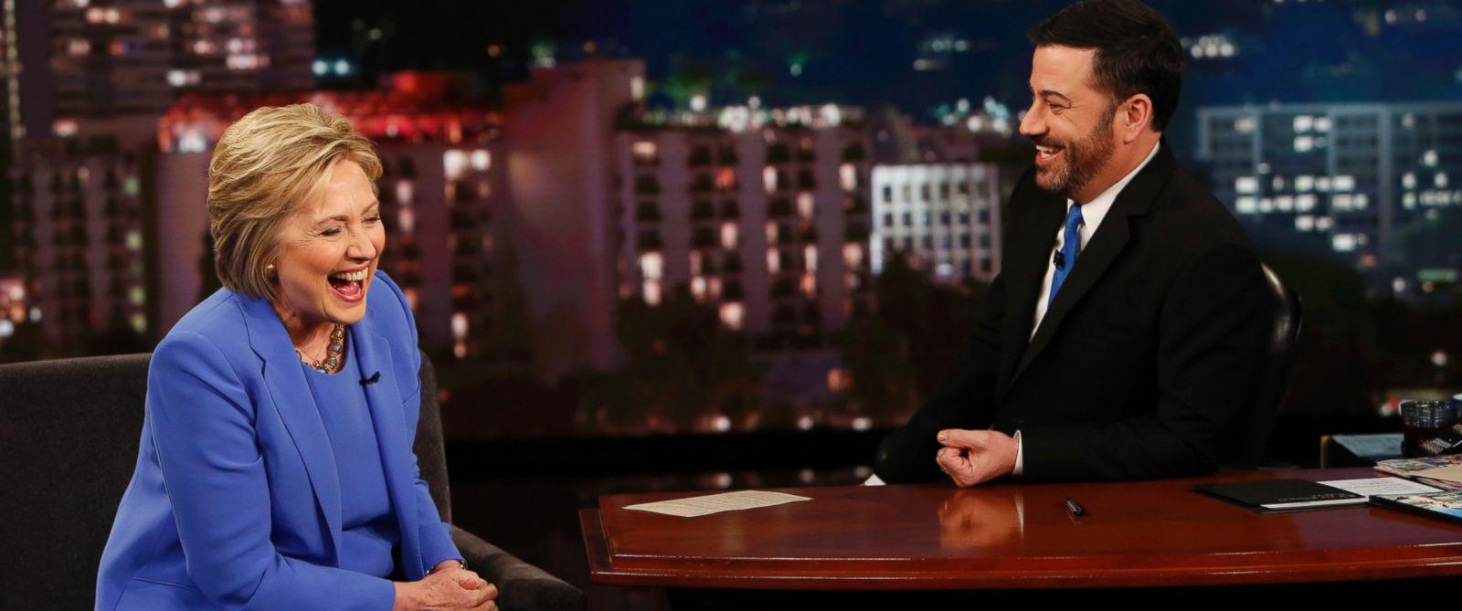"PHOTO: Hillary Clinton on ""Jimmy Kimmel Live!"" on March 25, 2016."