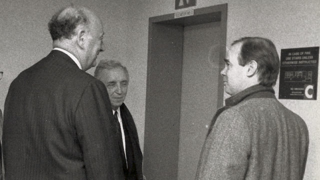 PHOTO: ABC News Mark Mooney, right, spent ten years covering former NYC Mayor Ed Koch.