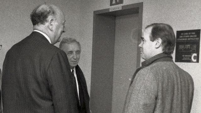 PHOTO: ABC News Mark Mooney, right, spent ten years covering former NYC Mayor Ed Koch.