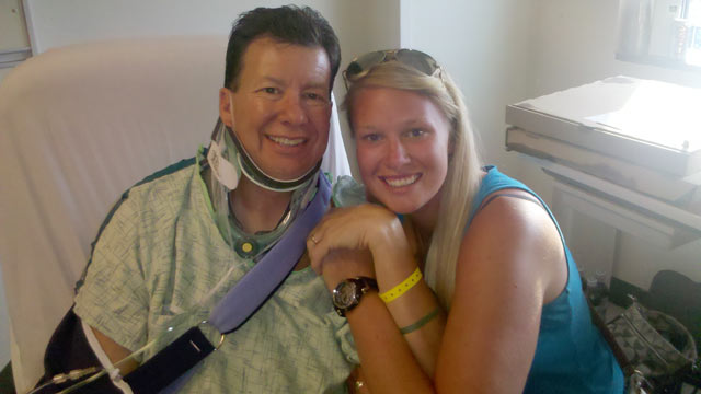 PHOTO: Alec Kornacki, left, was rescued by his 22 year old daughter Lauren, right, who lifted his BMW off of him and administered CPR after he became trapped under the car while doing maintenance work on July 29, 2012 in Glen Allen, VA.