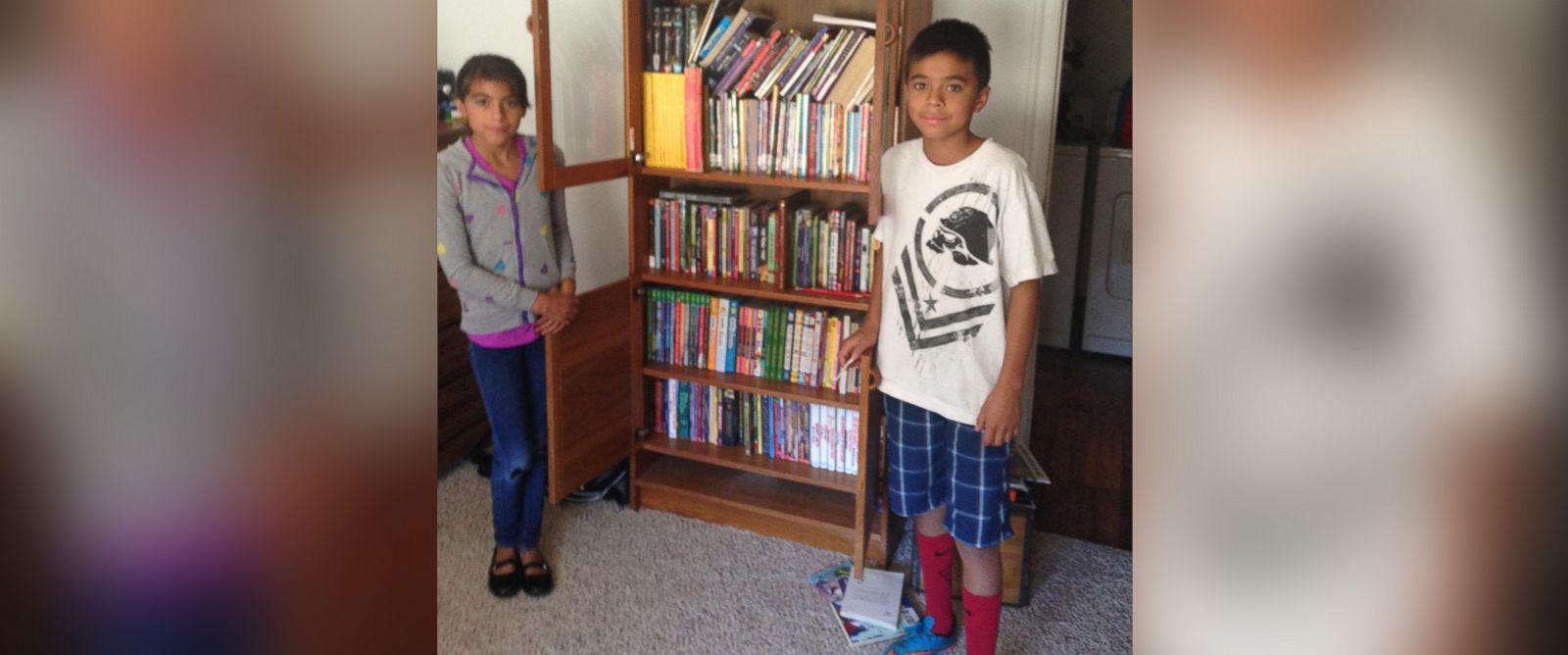 PHOTO: Mathew Flores, 12, has received hundreds of book donations after a local mailmans plea to help get him books went viral on social media.