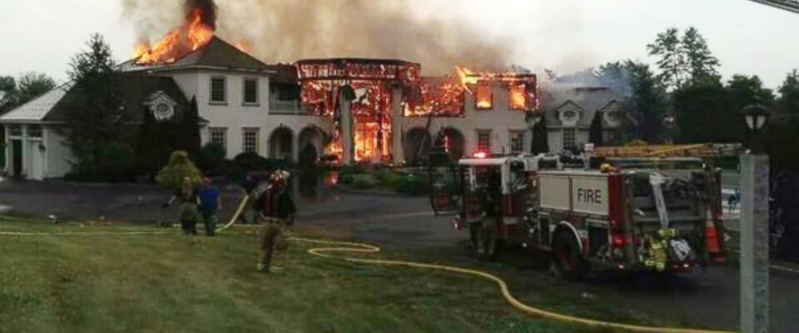 """PHOTO: This photo was posted to Twitter on July 3, 2014 with the caption, """"Middlebury ct...mansion fire..."""""""