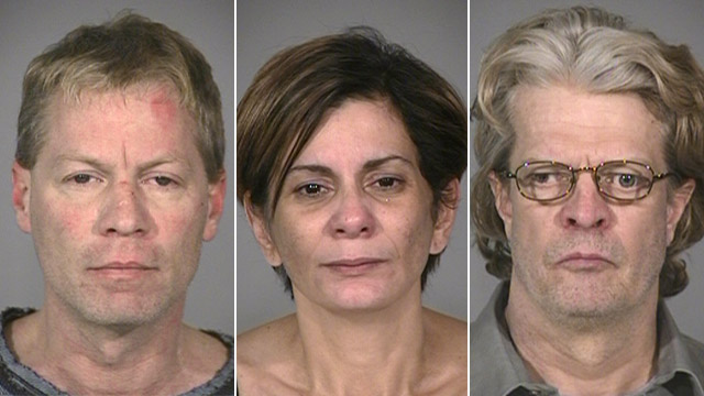 PHOTO: Mark Leonard, Shirley Monserrate and Robert Leonard mugshots