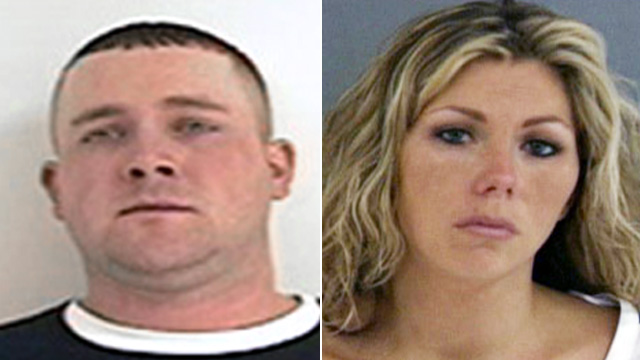 PHOTO: Booking photos of Mark and Vanessa Clark
