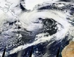 PHOTO: This satellite image shows a massive storm spanning the northern portion of the Atlantic Ocean.