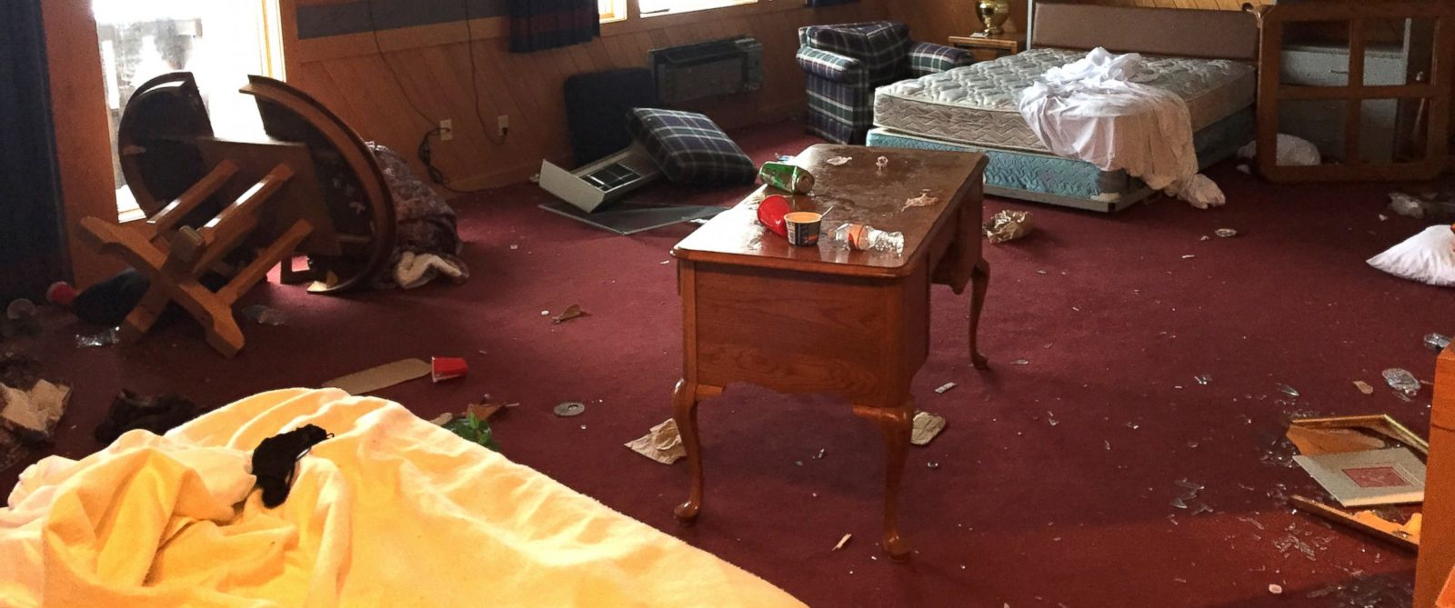 PHOTO: Photo of the damage Treetops Resort claims was done by a University of Michigan fraternity.