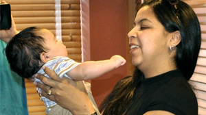 PHOTO Vera Delgado is suing a Miami Hospital for circumcising her newborn son, Mario Viera, by mistake.