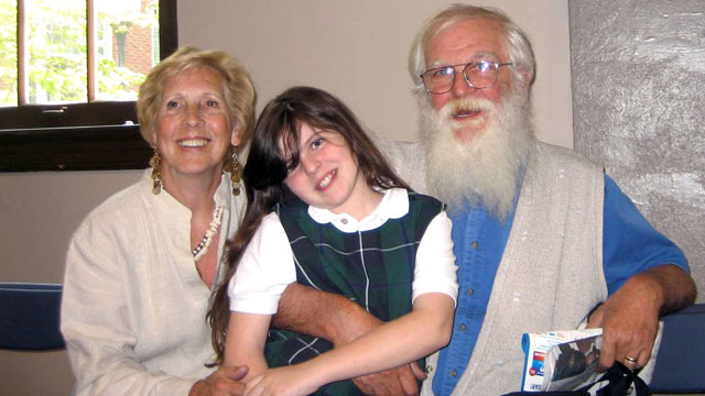 PHOTO: Morgan Johnson, center, is shown with Pauline and Lomer Johnson in this family photo.