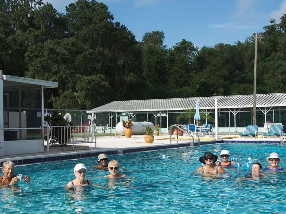 PHOTO: Residents in the pool at Nalcrest.