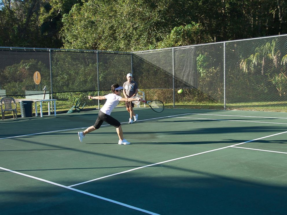 PHOTO: Nalcrest residents playing tennis.