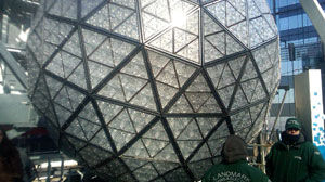 PHOTO The first New Years Eve ball was made of iron and wood. Today its Waterford crystal.