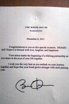 ht obama gay marriage congratulations letter ll 111220 vblog Gay Couple Receives Obama Congratulations on Wedding