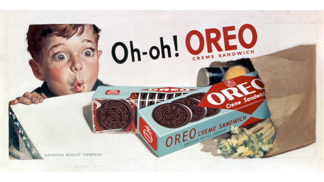 "PHOTO: This was a memorable ad campaign, said Becky Tousey, Kraft Foods' ""Oreo historian."""