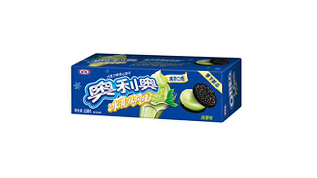 PHOTO: Green tea is just one popular flavor of Oreo cookie in China as well as the wafer.