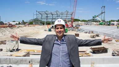 PHOTO: Orlando City majority owner Flavio Augusto da Silva stands at the construction site for the MLS teams new stadium in Florida.