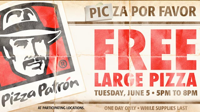PHOTO: Pizza Patron ad