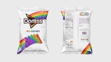 PHOTO: Starting Sept. 17, 2015, consumers who donate $10 or more in support to the It Gets Better Project through www.ItGetsBetter.org/DoritosRainbows will be mailed a bag of Doritos Rainbows chips, while supplies last.