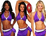 PHOTO: Ravens Football Cheerleaders, Hillary, Lindsay and Courtney are looking forward to cheering their team, The Ravens, at the Superbowl, Feb. 3, 2013.