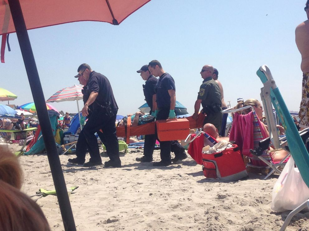 PHOTO: A woman was hospitalized after a reported explosion at the Salty Brine beach in Narragansett, Rhode Island.