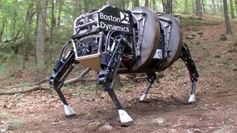 ht robot dog nt 120911 wblog Four Legged Robot Could Help Military Handle Rough Terrain