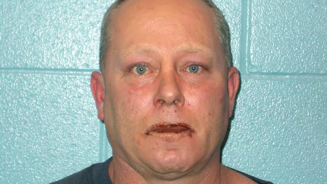PHOTO: Mug shot of Roger Oates after allegedly biting the face of Ohio neighbor Scott Hall.