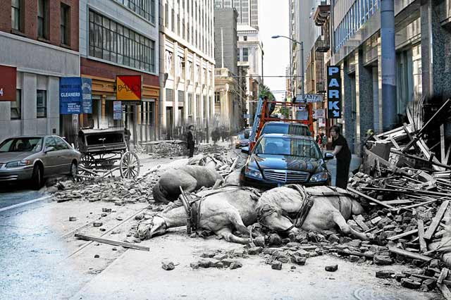ht san francisco horses ll 130410 wblog San Francisco: 1906 Earthquake and Now   in Composite