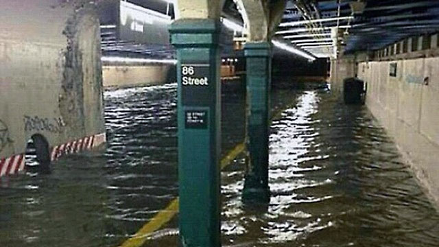 PHOTO: Flooded subway station