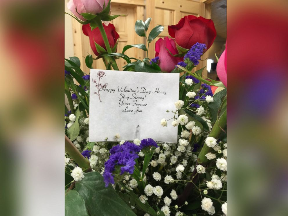 PHOTO: Jim Golay allegedly arranged to have these Valentines Day flowers sent to his wife after his death.