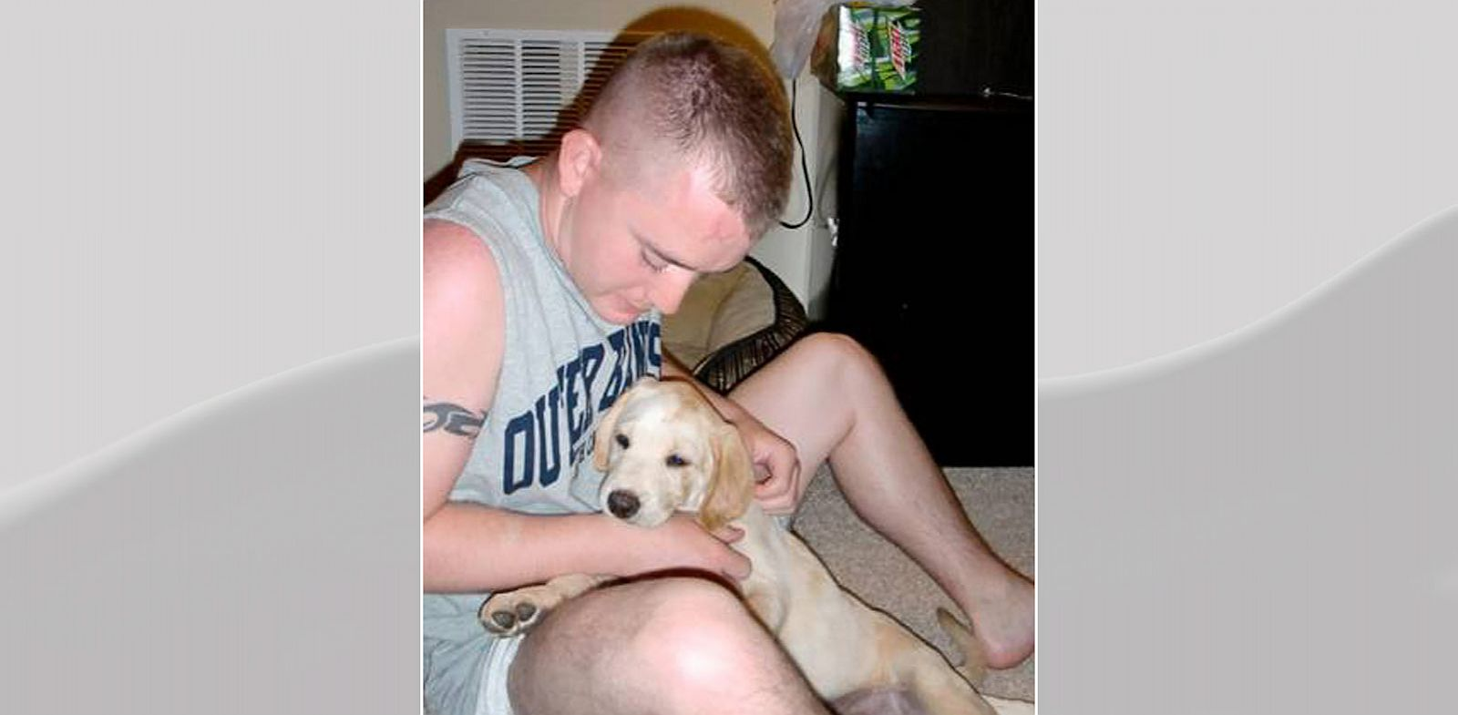 PHOTO: The dog of U.S. Army soldier, Brandon Harker, was given away when he was deployed to Afghanistan.