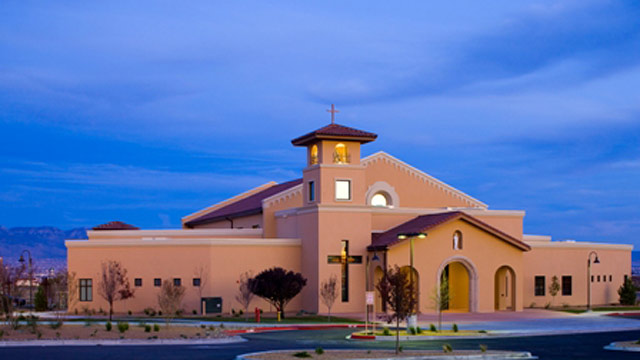 PHOTO: This photo from parishesonline.com shows St. Jude Thaddeus Catholic Church in Albuqueque, NM, where Police say a man stabbed four people as a Sunday mass was nearing its end.