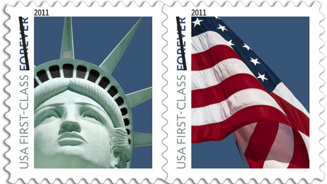 PHOTO:The United States Postal Service has issued a new stamp showing the Statue of Liberty.