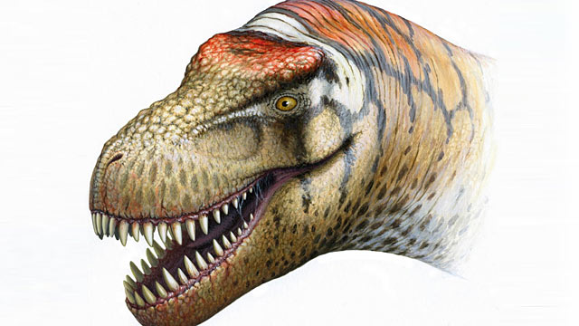 PHOTO: Shown here is an illustration of a new cousin to the T. Rex that has been discovered in china.