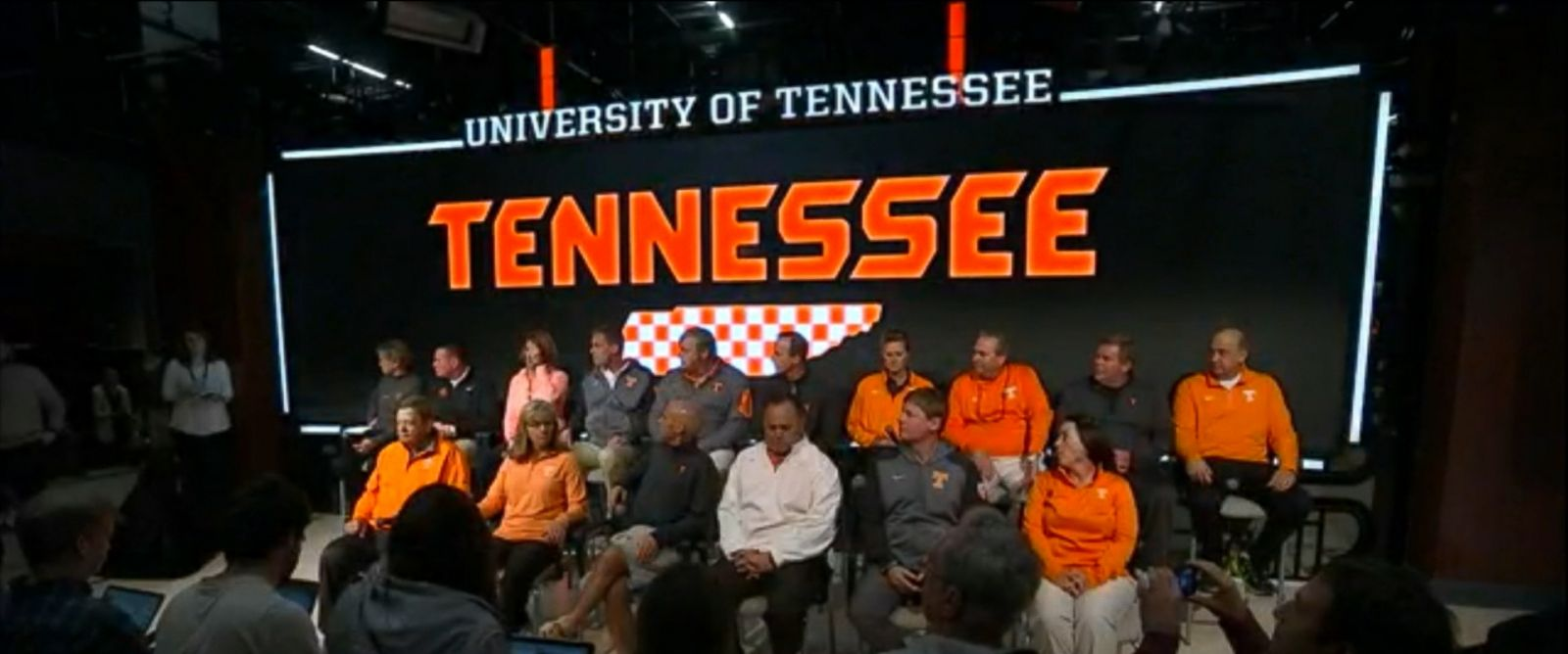 PHOTO:The University of Tennessees 16 varsity head coaches held a press conference at the schools athletics campus, Feb. 23, 2016.