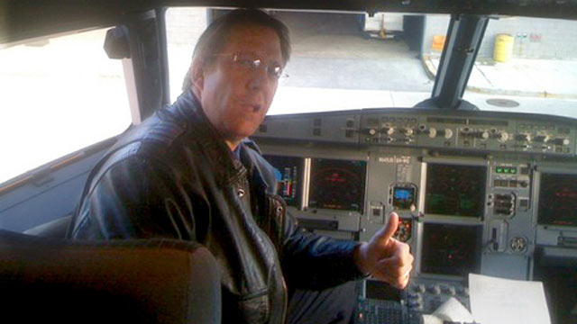 PHOTO: Clayton F. Osbon is seen here in a cockpit from an undated Twitter picture.