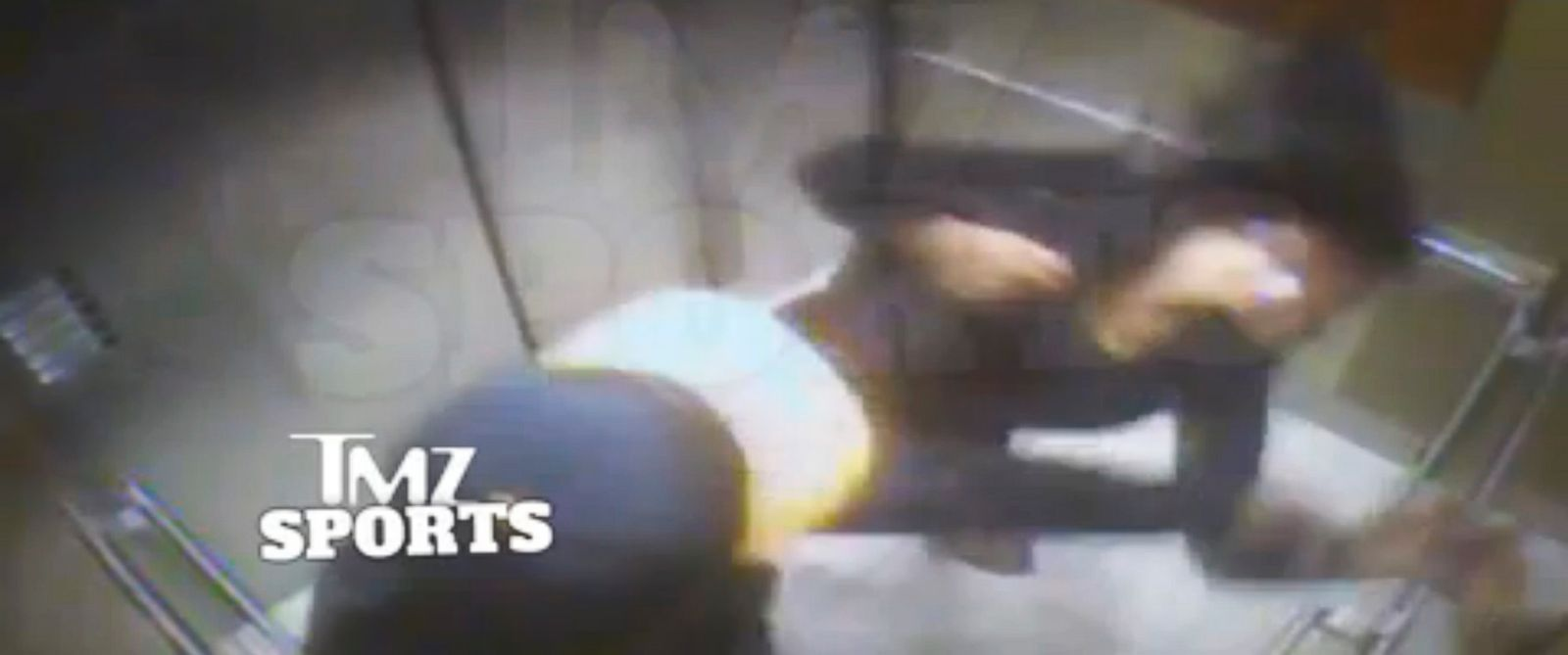 PHOTO: A video from TMZ allegedly shows Ray Rice punching his now-wife Janay Palmer on Feb. 15, 2014.