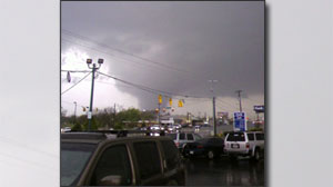 Reports of tornadoes touching down in Murfreesboro, TN.