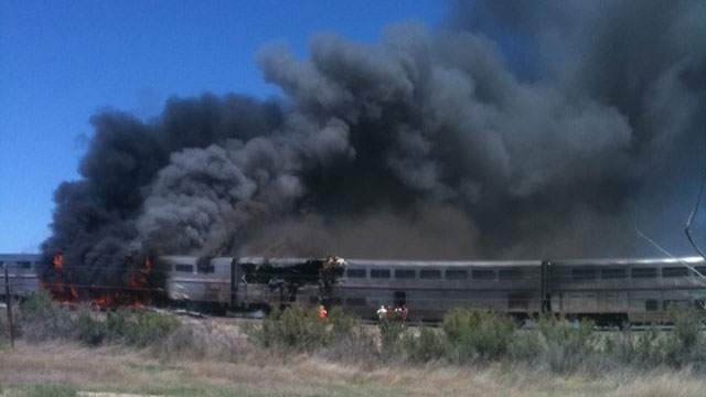 PHOTO: Train-Truck Collision Outside Reno, Nev., Kills At Least 2
