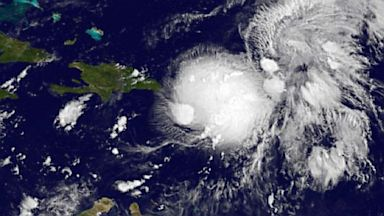 PHOTO: Tropical Storm Gabrielle satellite image