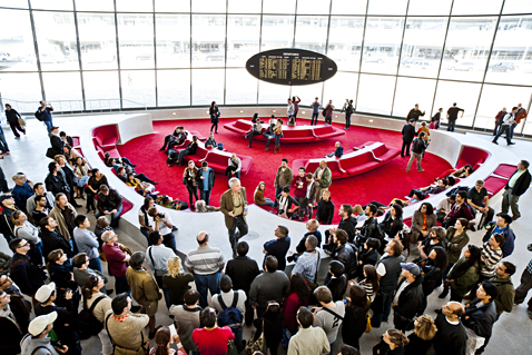 Inside the TWA Flight Center at Open House New York