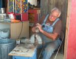 PHOTO: Cancer survivor Vean Woodbrey builds a carousel in Utah.